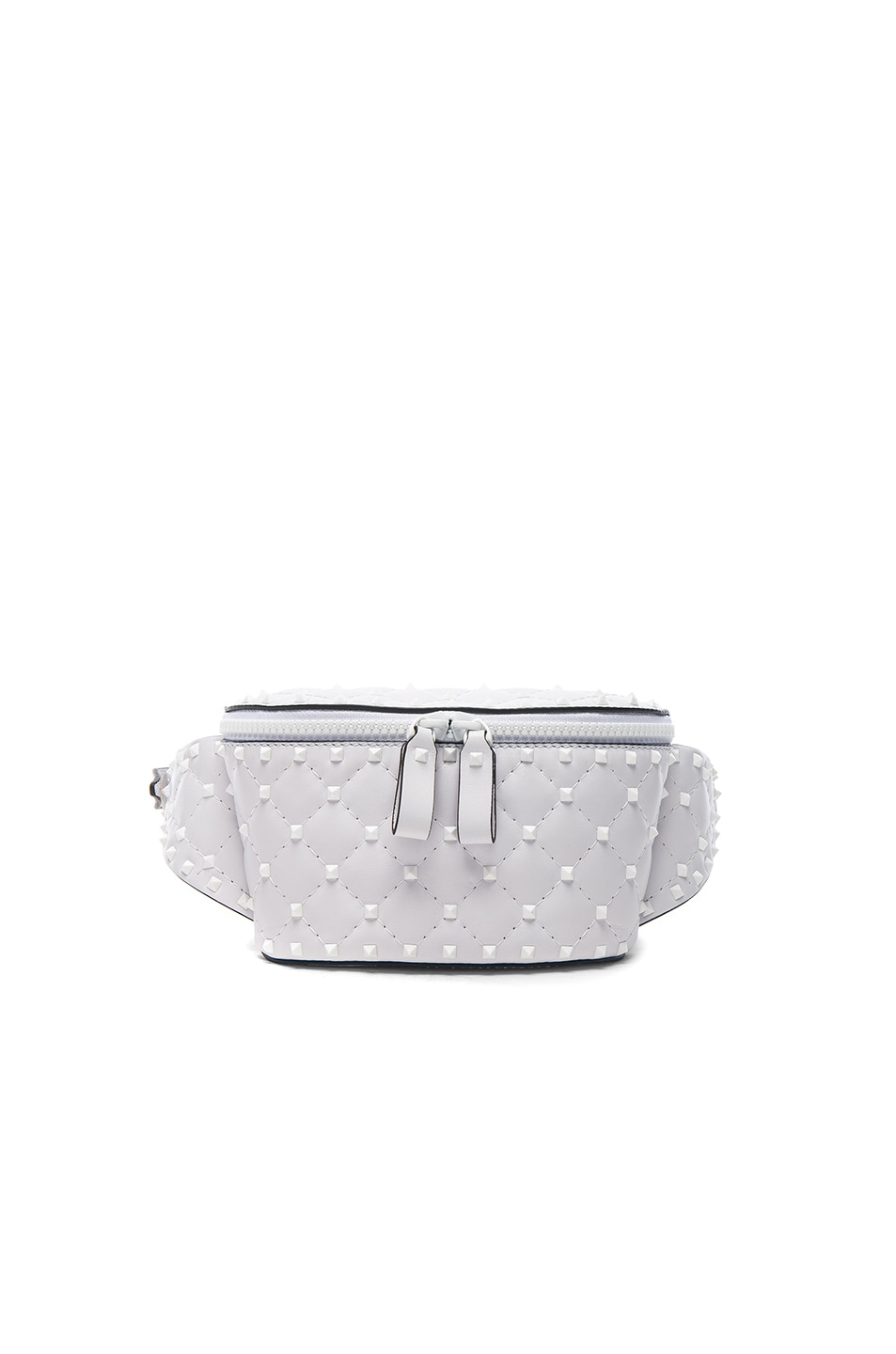 38fce8259c Image 1 of Valentino Small Free White Rockstud Spike Belt Bag in Optic White