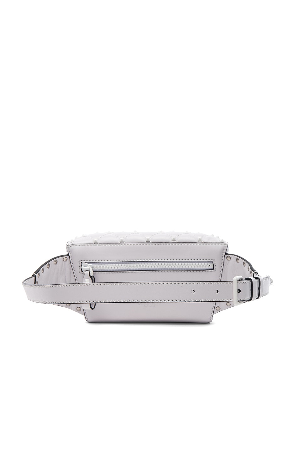 Image 2 of Valentino Small Free White Rockstud Spike Belt Bag in Optic White