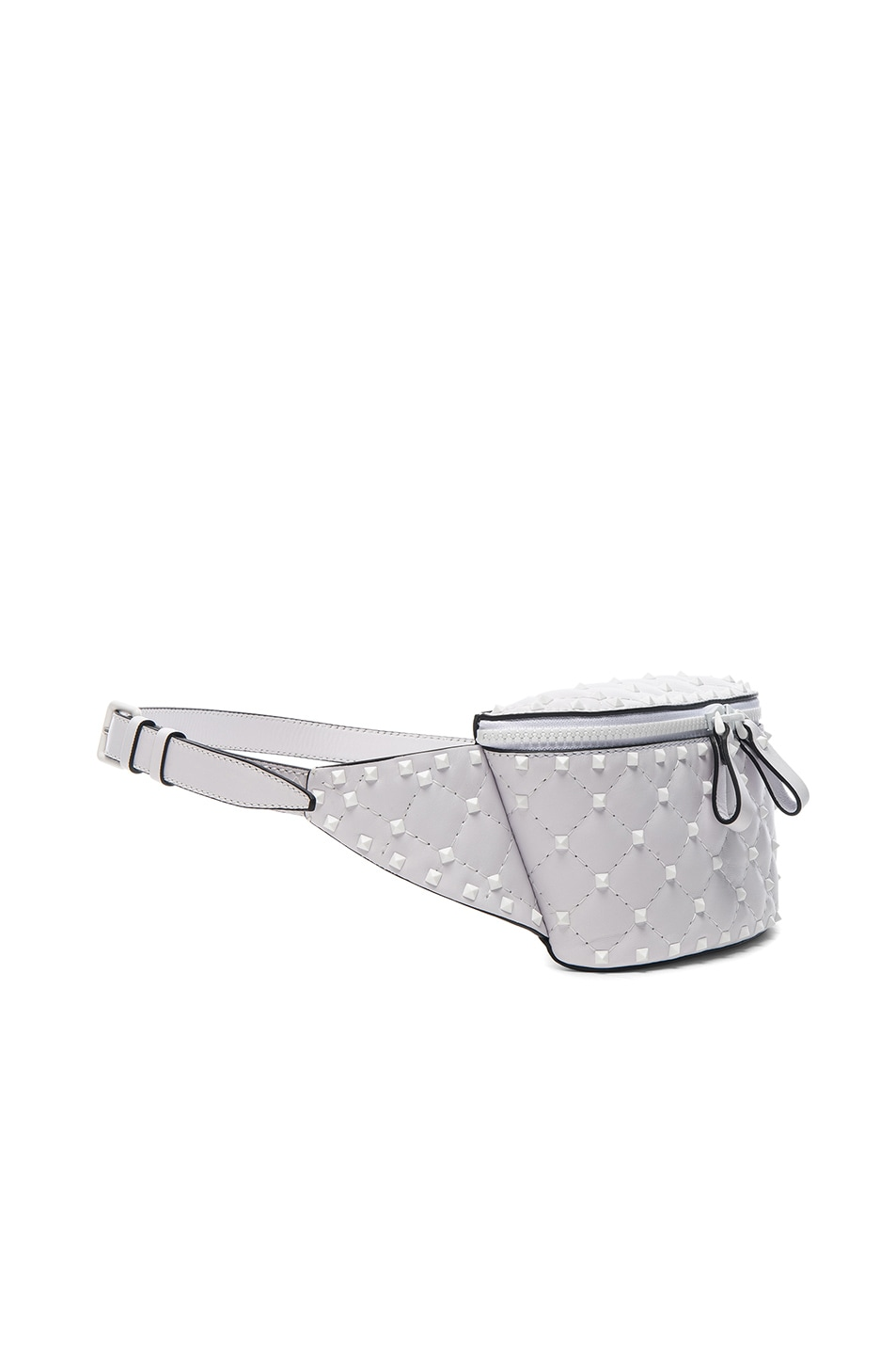 Image 3 of Valentino Small Free White Rockstud Spike Belt Bag in Optic White