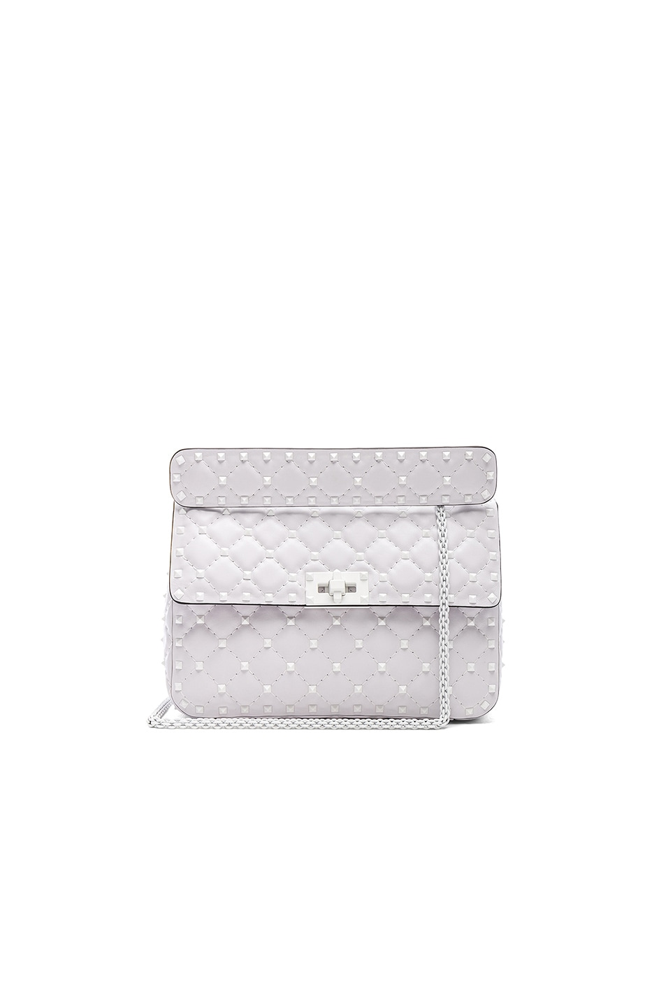 Image 1 of Valentino Medium Free Rockstud Spike Shoulder Bag in Optic White
