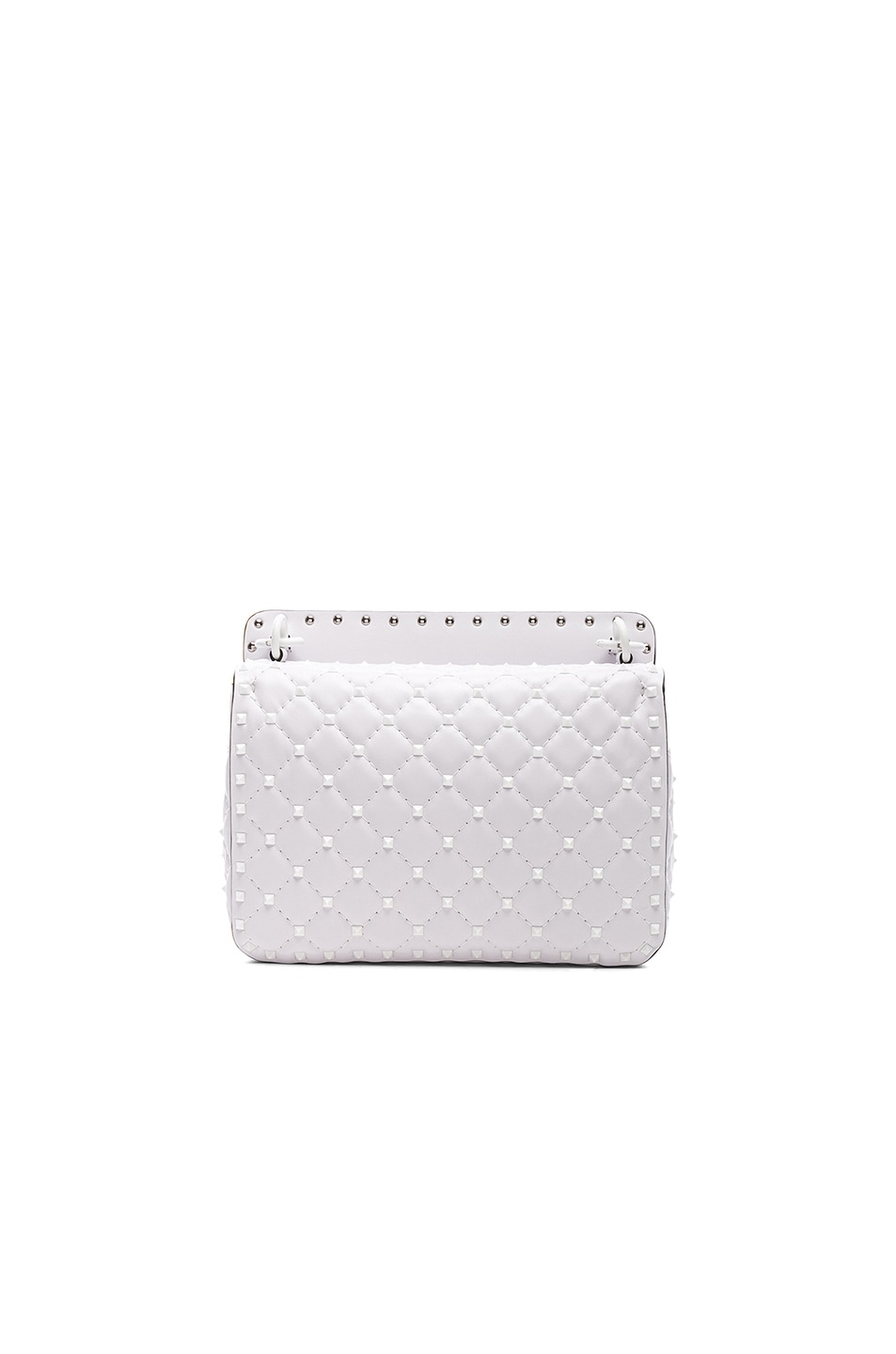 Image 2 of Valentino Medium Free Rockstud Spike Shoulder Bag in Optic White