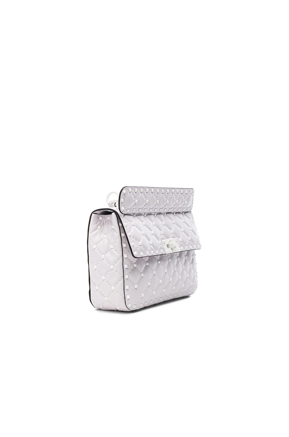 Image 3 of Valentino Medium Free Rockstud Spike Shoulder Bag in Optic White