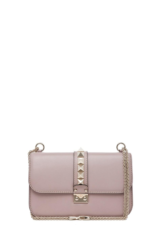 Image 1 of Valentino Medium Lock Flap Bag in Poudre