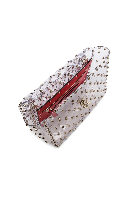 Image 5 of Valentino Medium Rockstud Spike PVC Shoulder Bag in Clear