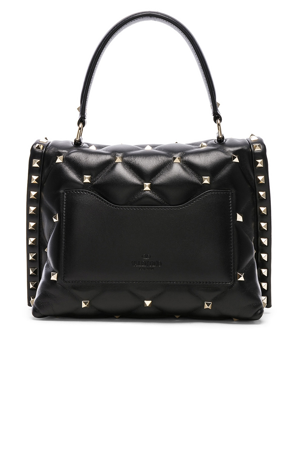 Image 3 of Valentino Candystud Top Handle Bag in Black