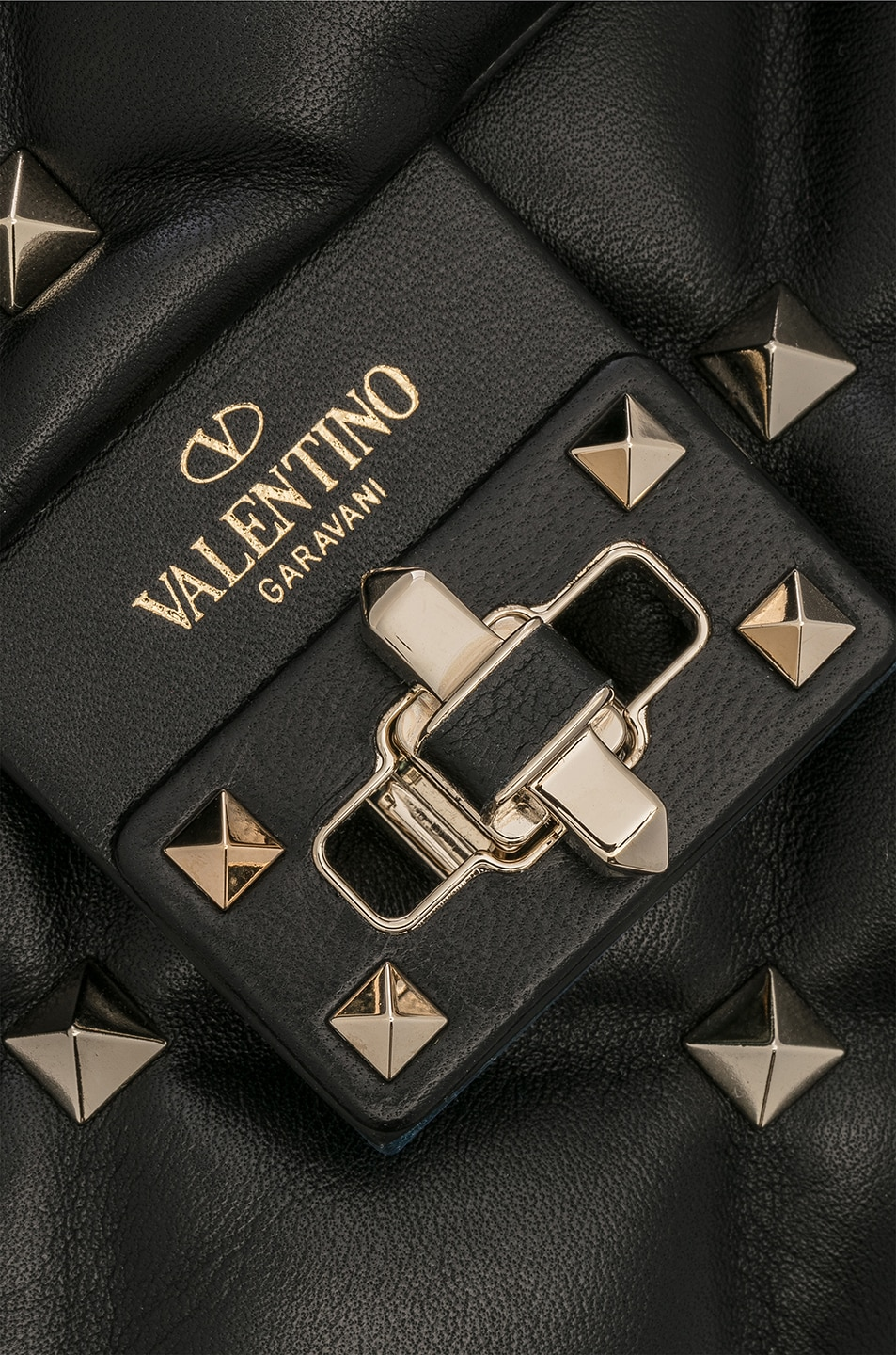 Image 8 of Valentino Candystud Top Handle Bag in Black