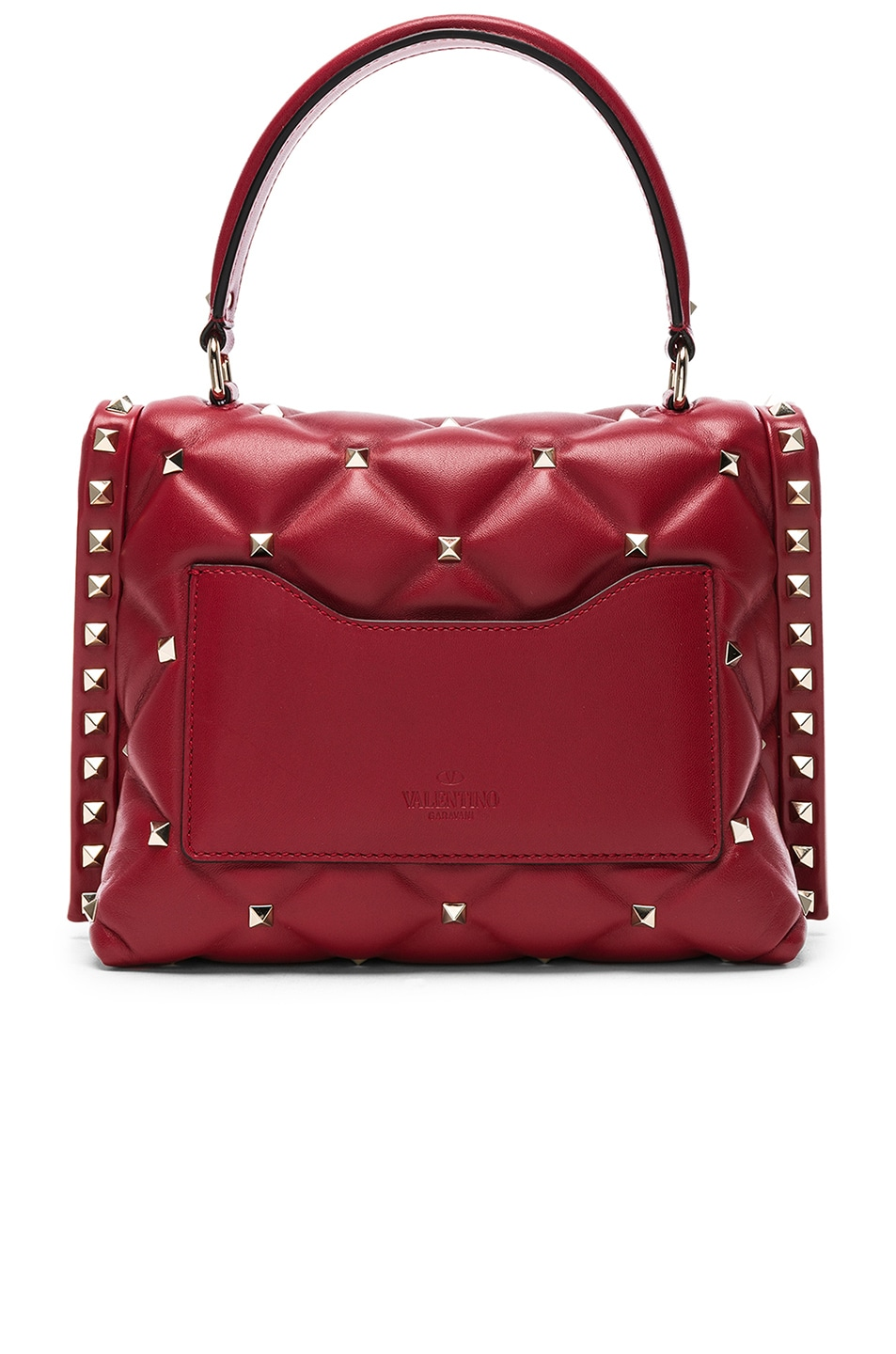 Image 3 of Valentino Candystud Top Handle Bag in Red