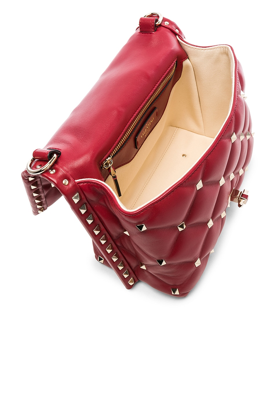 Image 5 of Valentino Candystud Top Handle Bag in Red