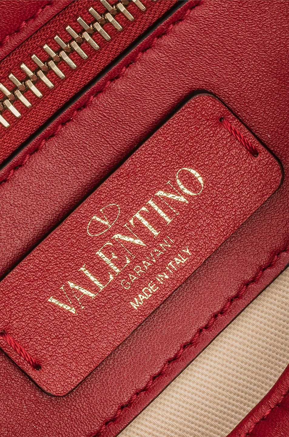 Image 7 of Valentino Candystud Top Handle Bag in Red