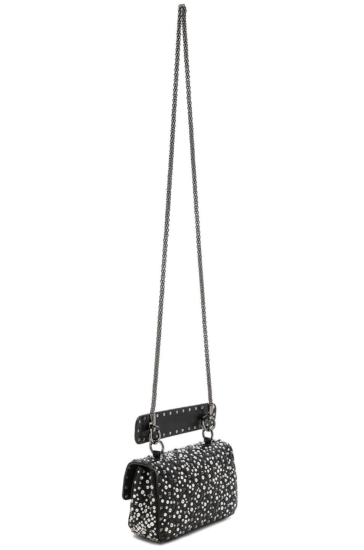 Image 6 of Valentino Small Embellished Spike It Shoulder Bag in Black