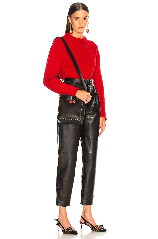 Image 2 of Valentino Mini Rockstud Hobo in Black