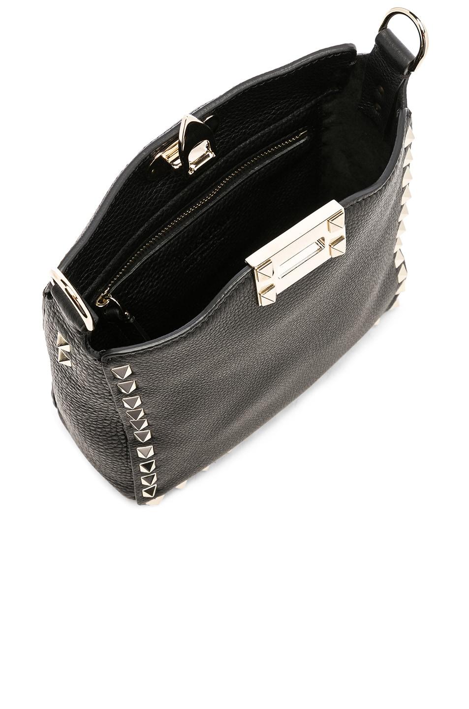 Image 5 of Valentino Mini Rockstud Hobo in Black
