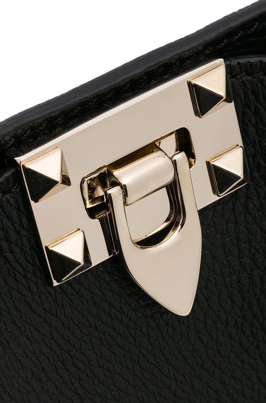 Image 8 of Valentino Mini Rockstud Hobo in Black