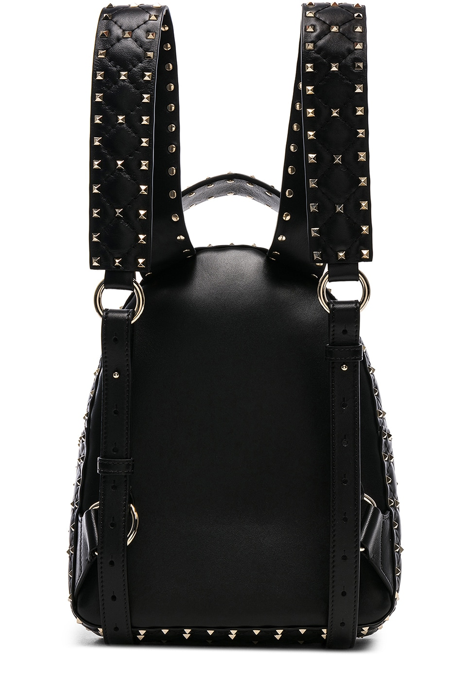 Image 3 of Valentino Small Rockstud Spike Backpack in Black