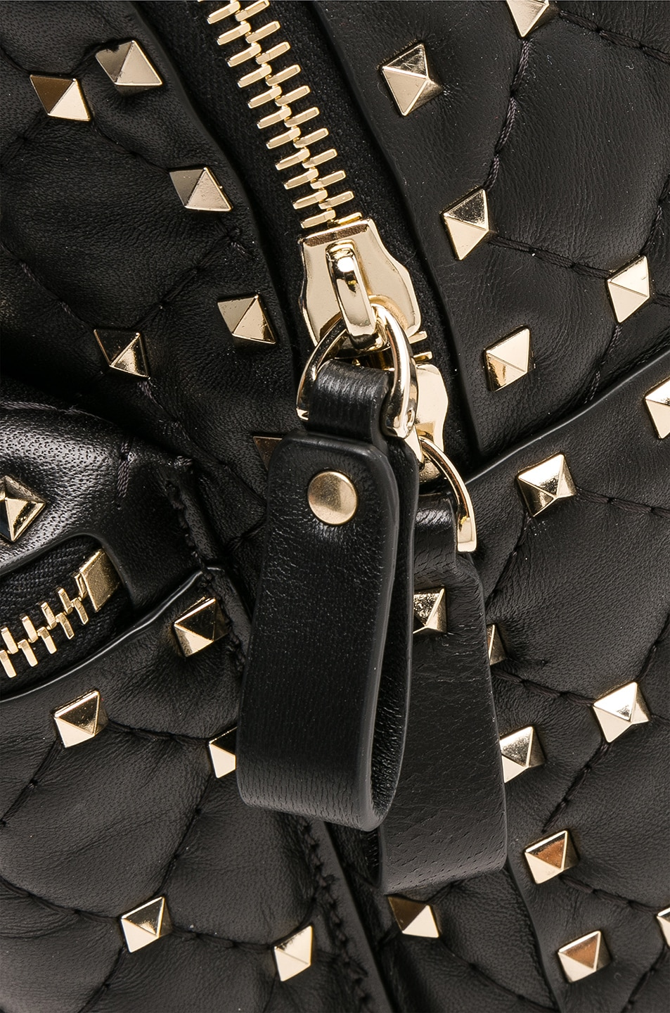 Image 7 of Valentino Small Rockstud Spike Backpack in Black