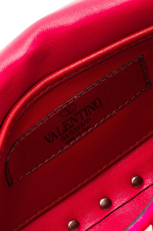 Image 7 of Valentino Small Velvet Rockstud Spike Shoulder Bag in Disco Pink