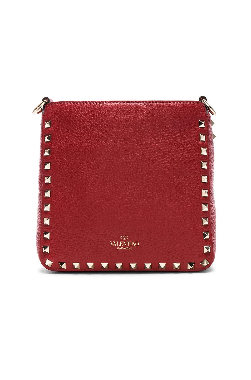Image 3 of Valentino Mini Rockstud Hobo in Red