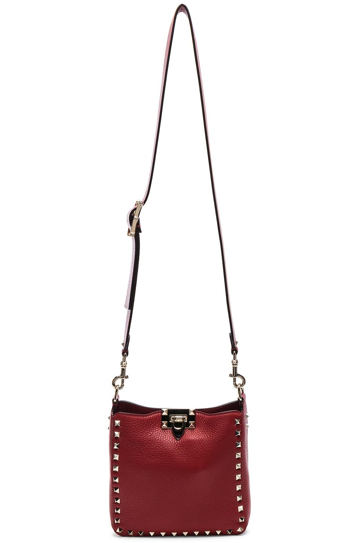 Image 6 of Valentino Mini Rockstud Hobo in Red