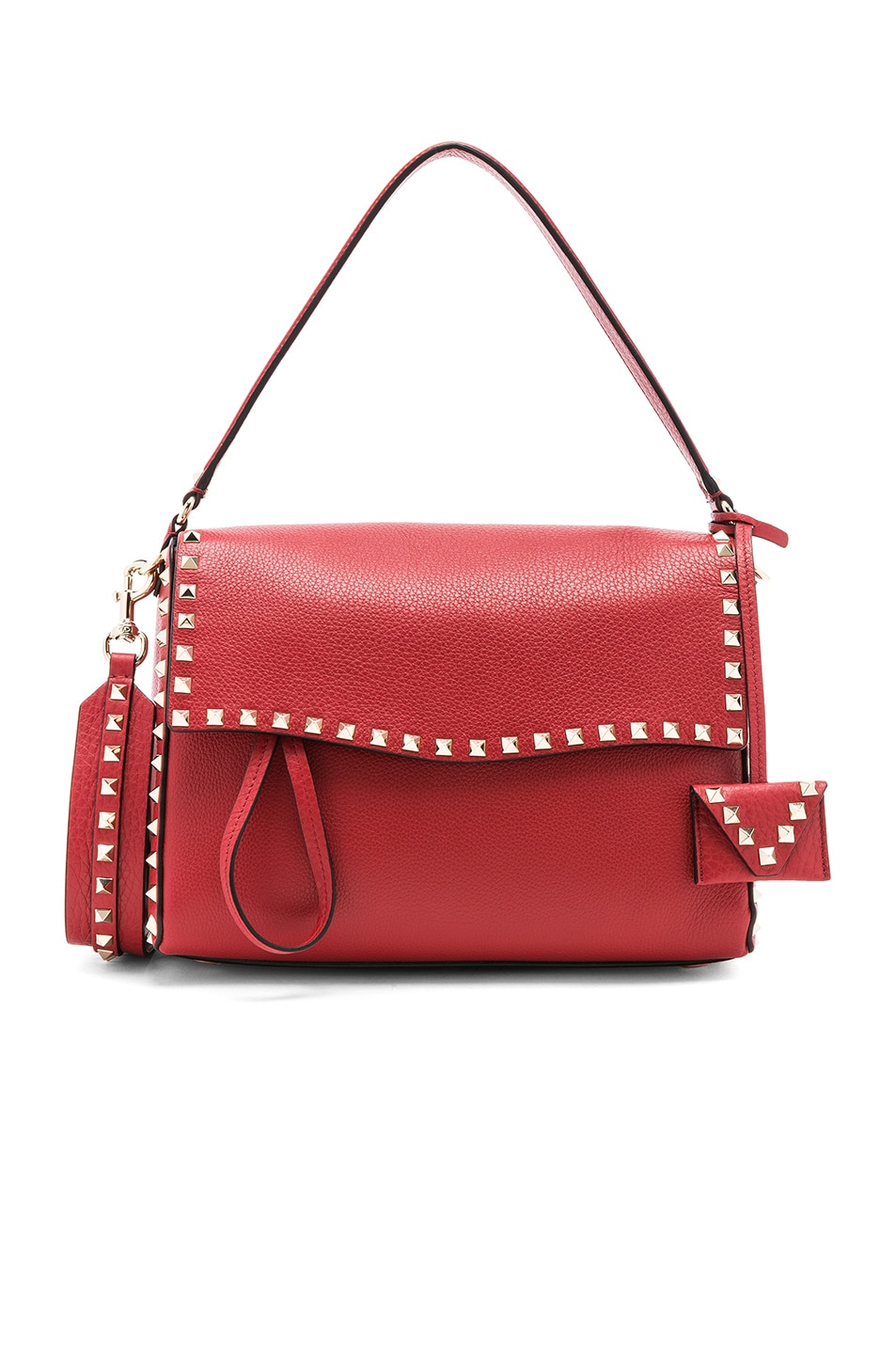 d17756959f Image 1 of Valentino Rockstud Single Handle Bag in Red