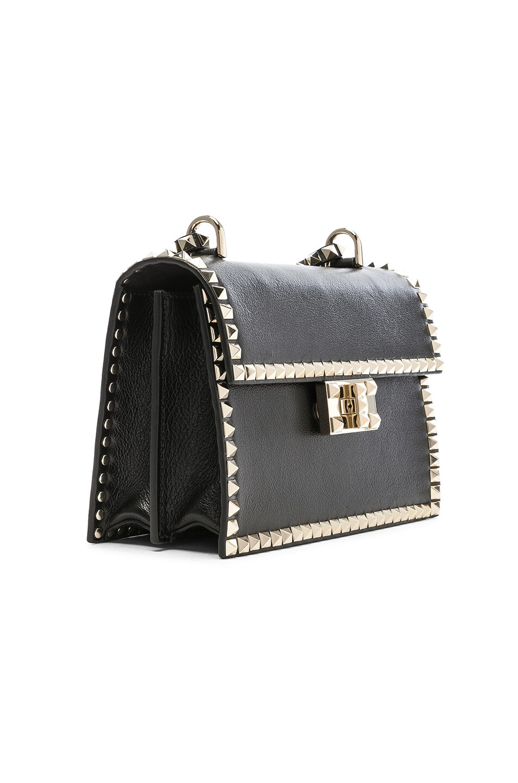 Image 4 of Valentino Small Rockstud No Limit Crossbody Bag in Black