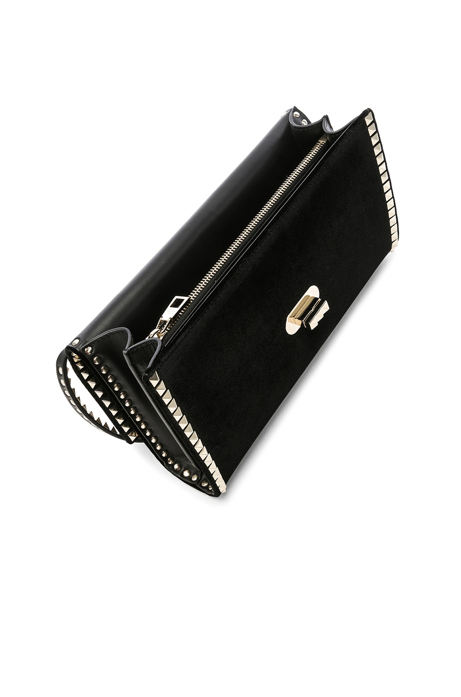 Image 5 of Valentino Small Rockstud No Limit Crossbody Bag in Black