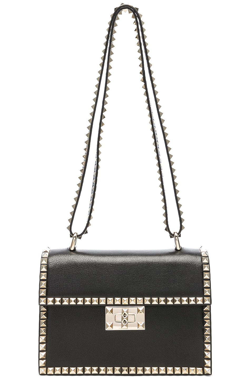 Image 6 of Valentino Small Rockstud No Limit Crossbody Bag in Black