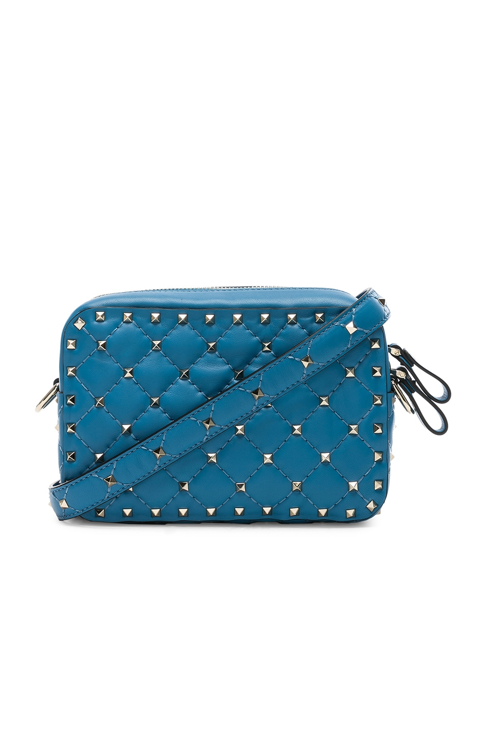 Image 1 of Valentino Rockstud Spike Crossbody Bag in Sky Blue
