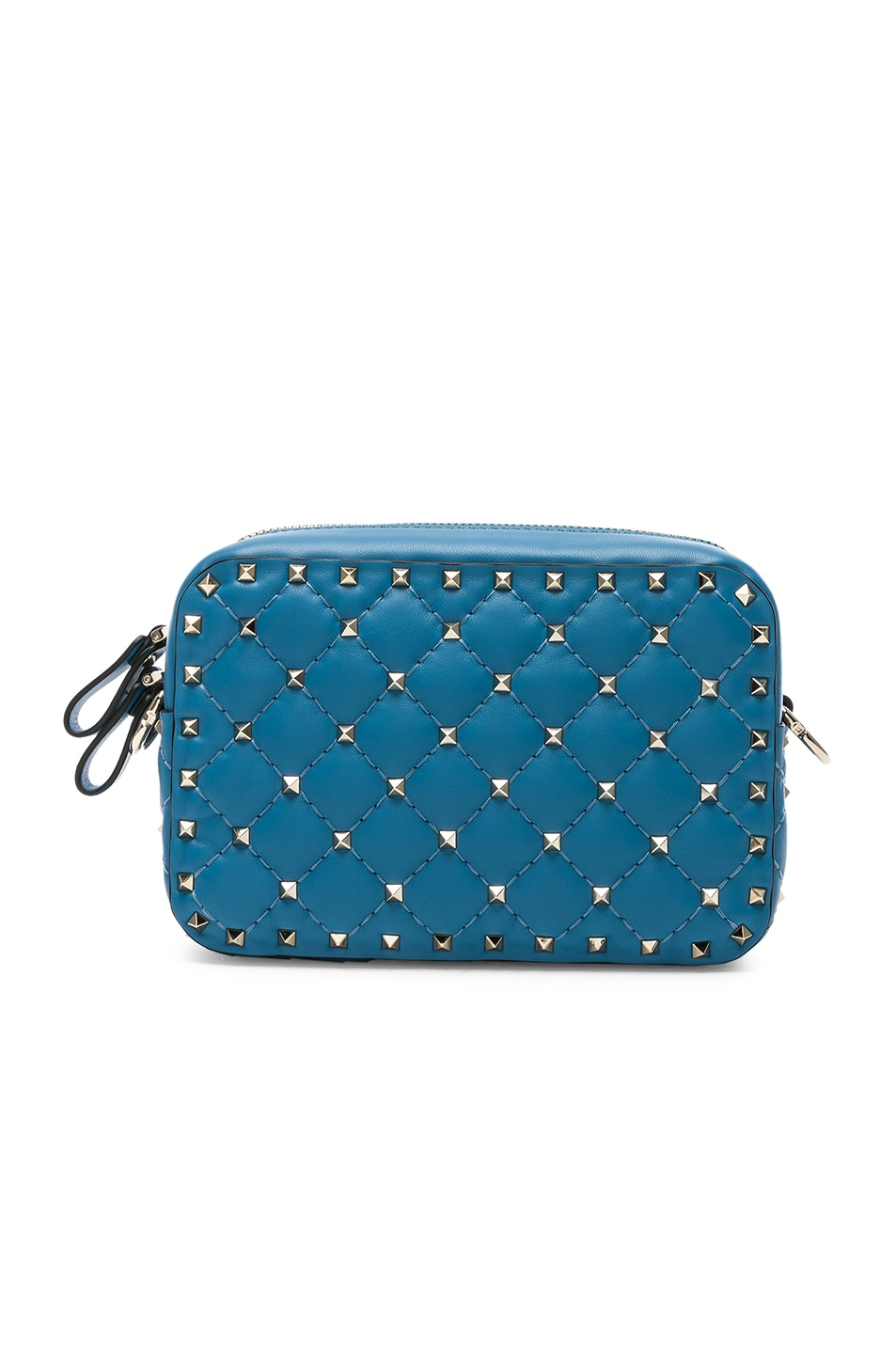 Image 3 of Valentino Rockstud Spike Crossbody Bag in Sky Blue