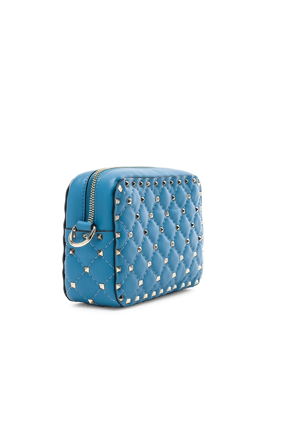 Image 4 of Valentino Rockstud Spike Crossbody Bag in Sky Blue