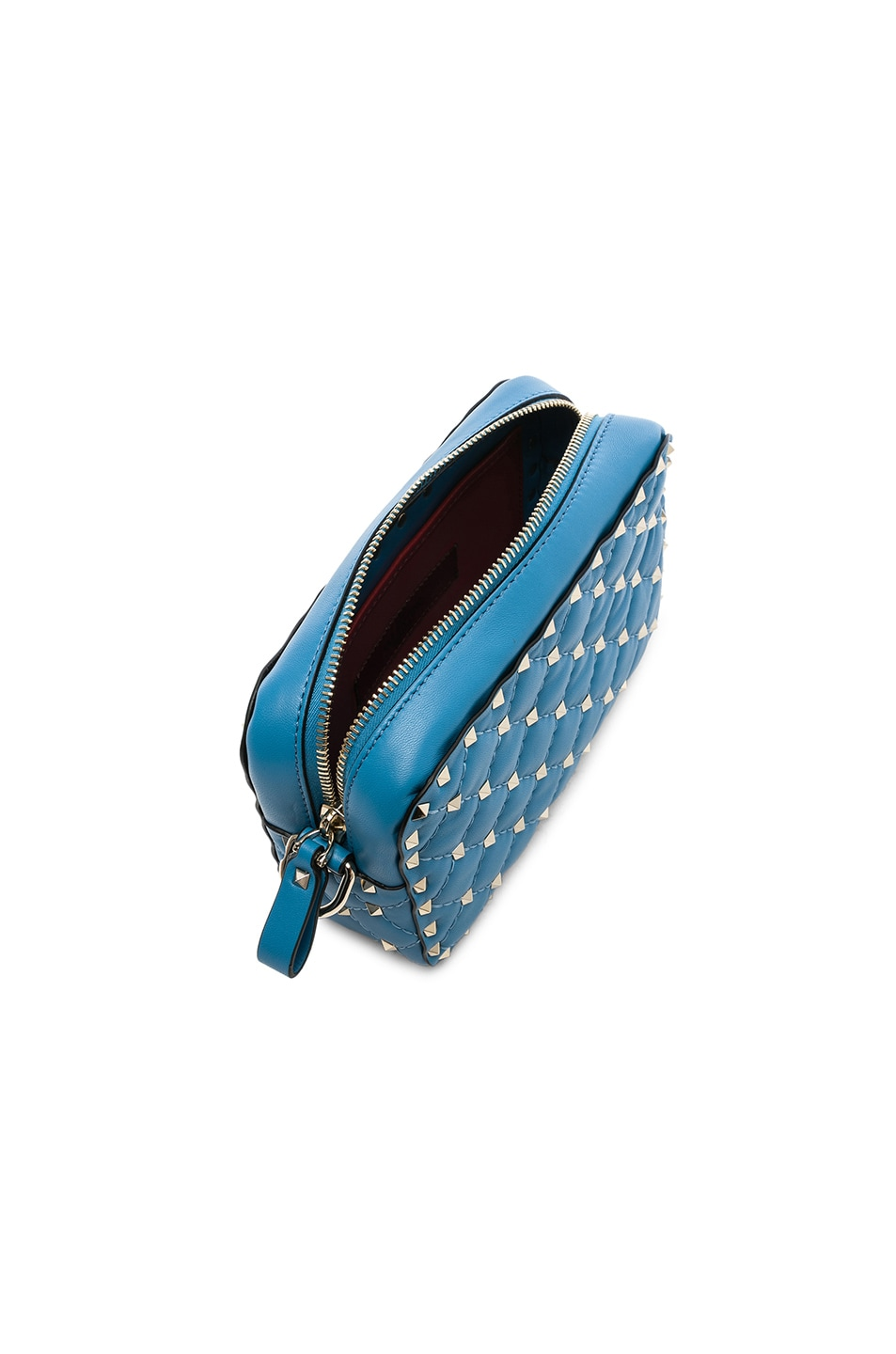 Image 5 of Valentino Rockstud Spike Crossbody Bag in Sky Blue