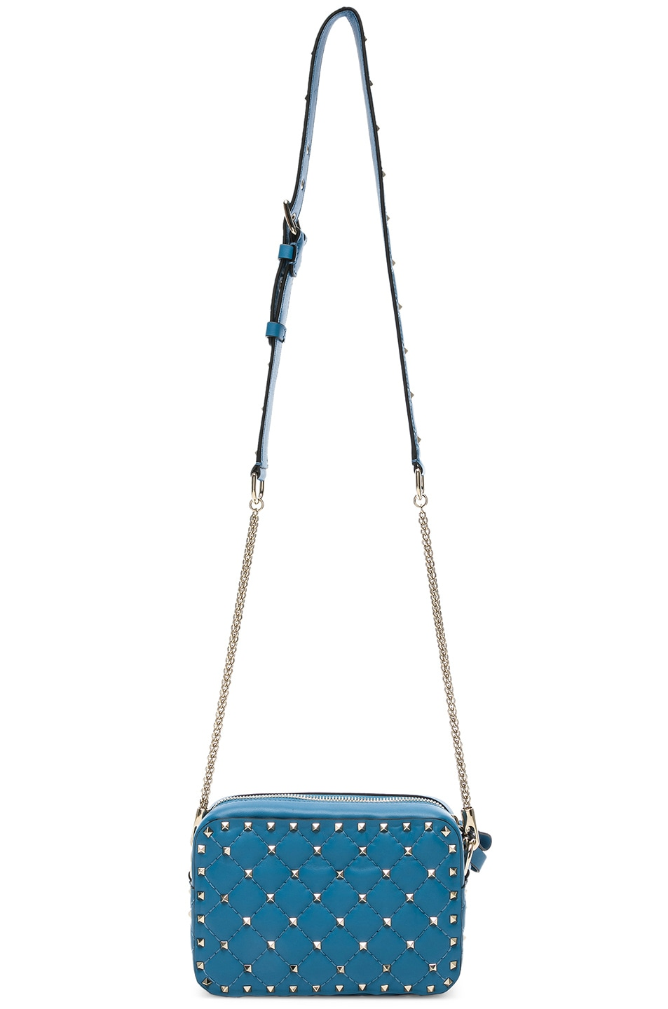 Image 6 of Valentino Rockstud Spike Crossbody Bag in Sky Blue