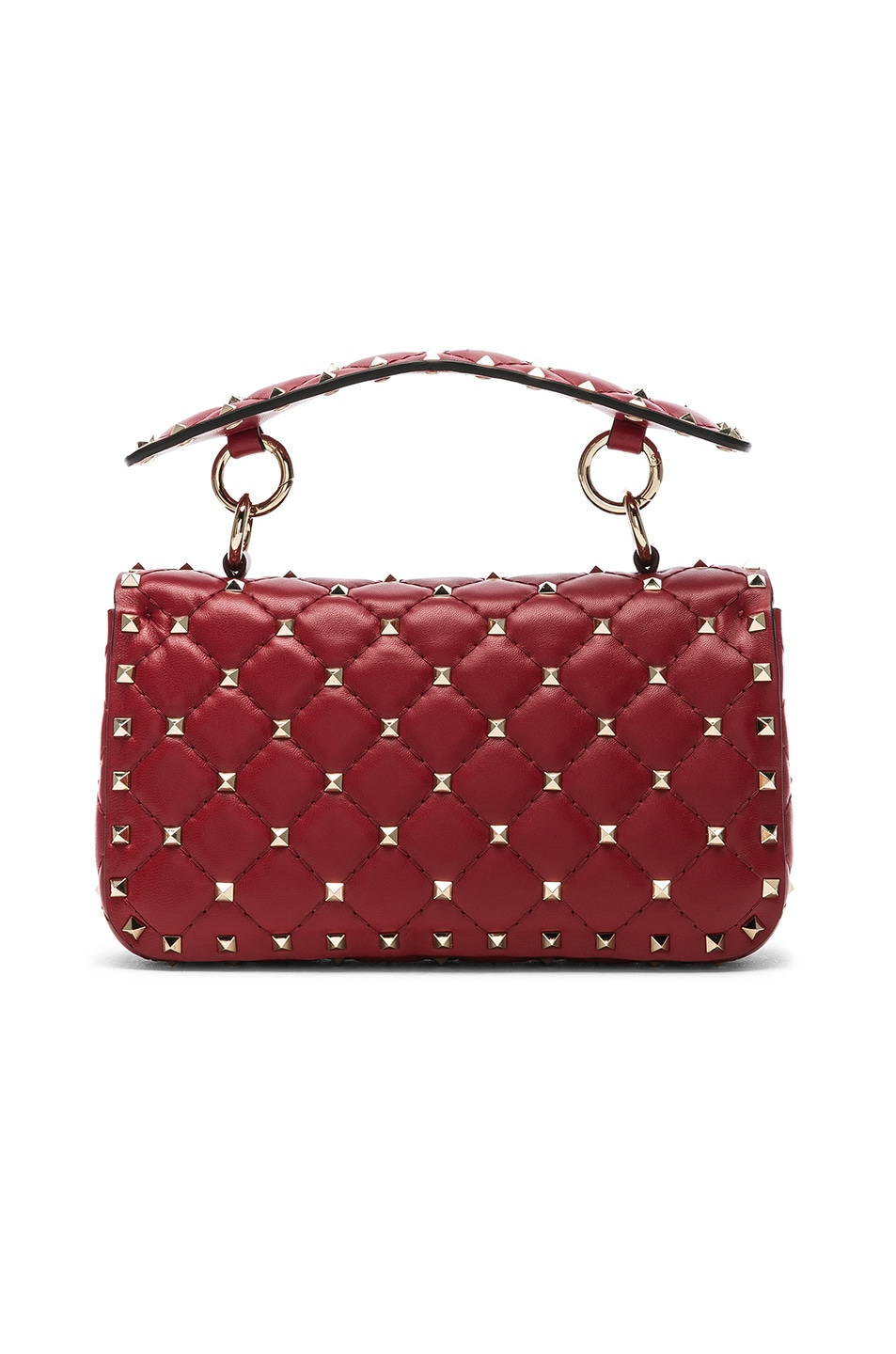 Image 3 of Valentino Small Rockstud Spike Shoulder Bag in Red