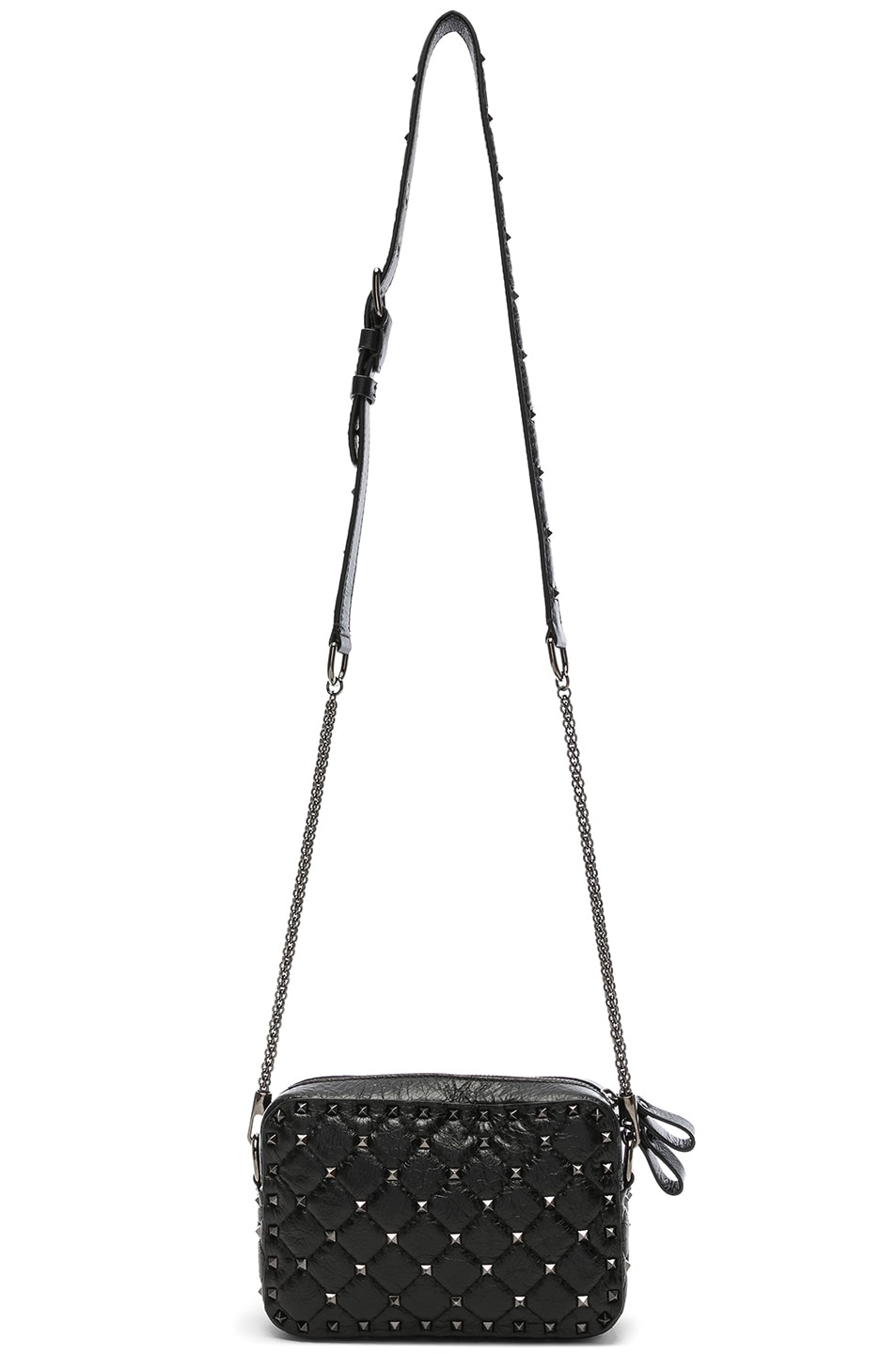 Image 6 of Valentino Rockstud Spike Crossbody Bag in Black
