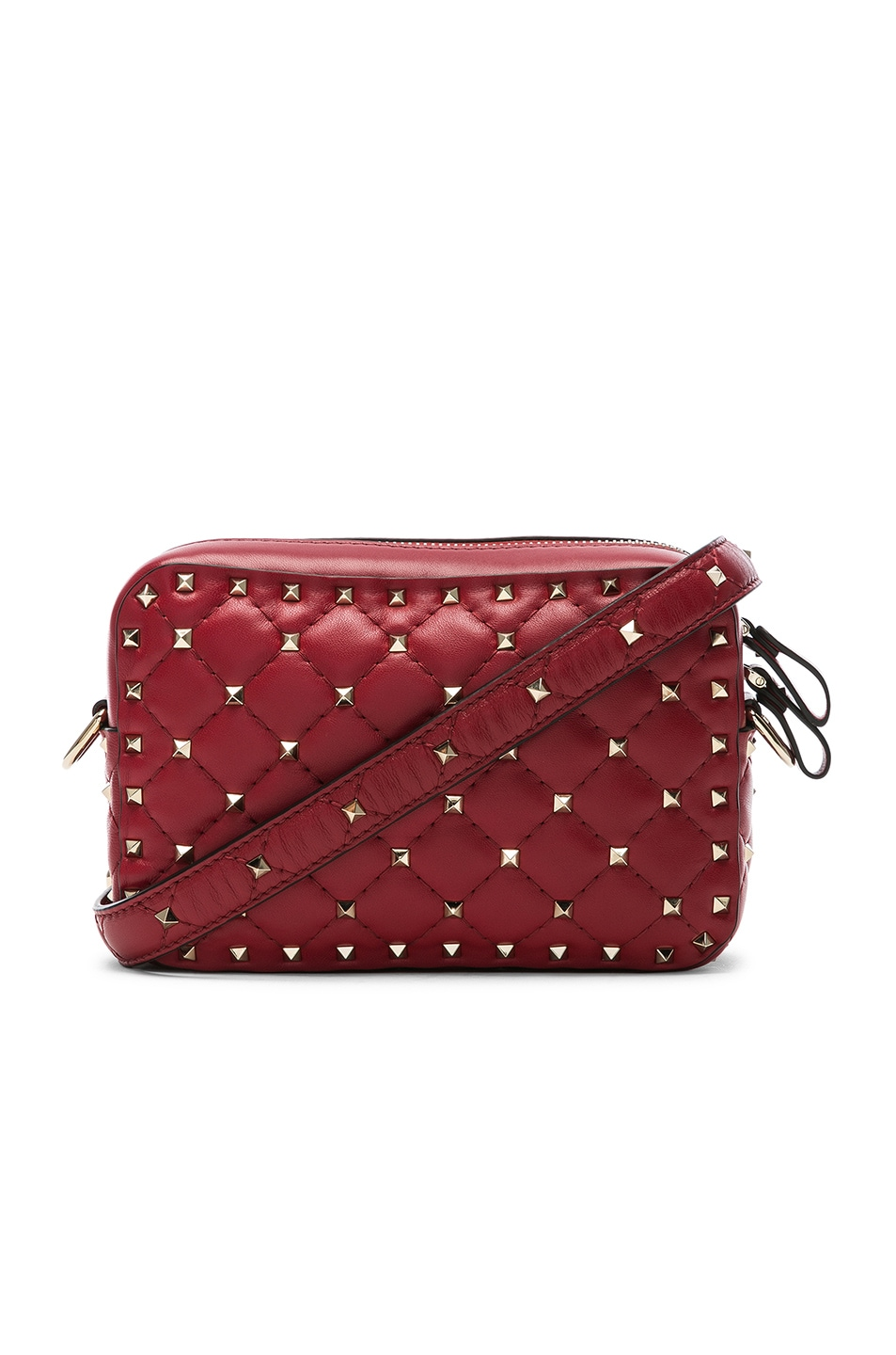 Image 1 of Valentino Rockstud Spike Crossbody Bag in Red