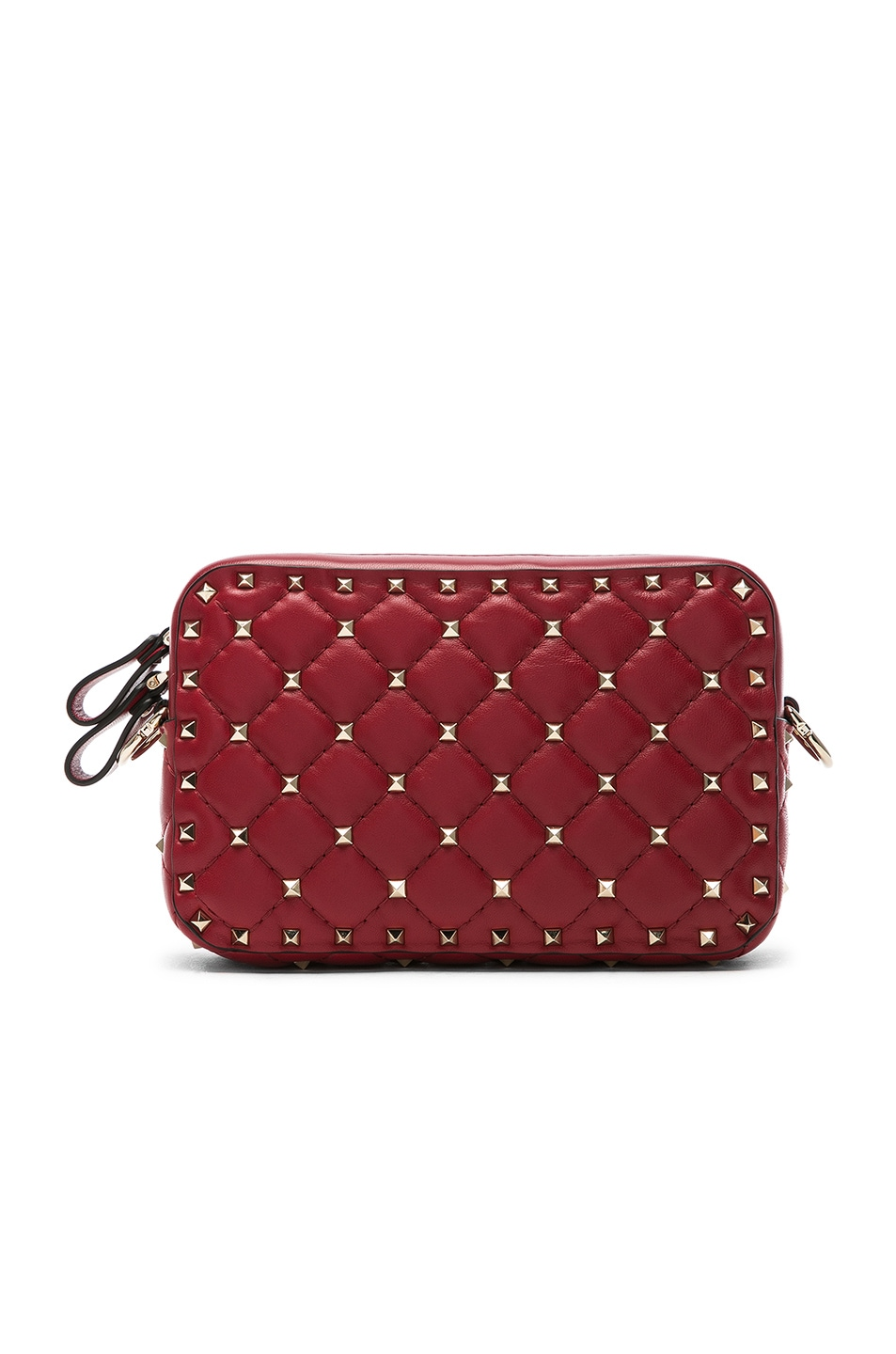 Image 2 of Valentino Rockstud Spike Crossbody Bag in Red