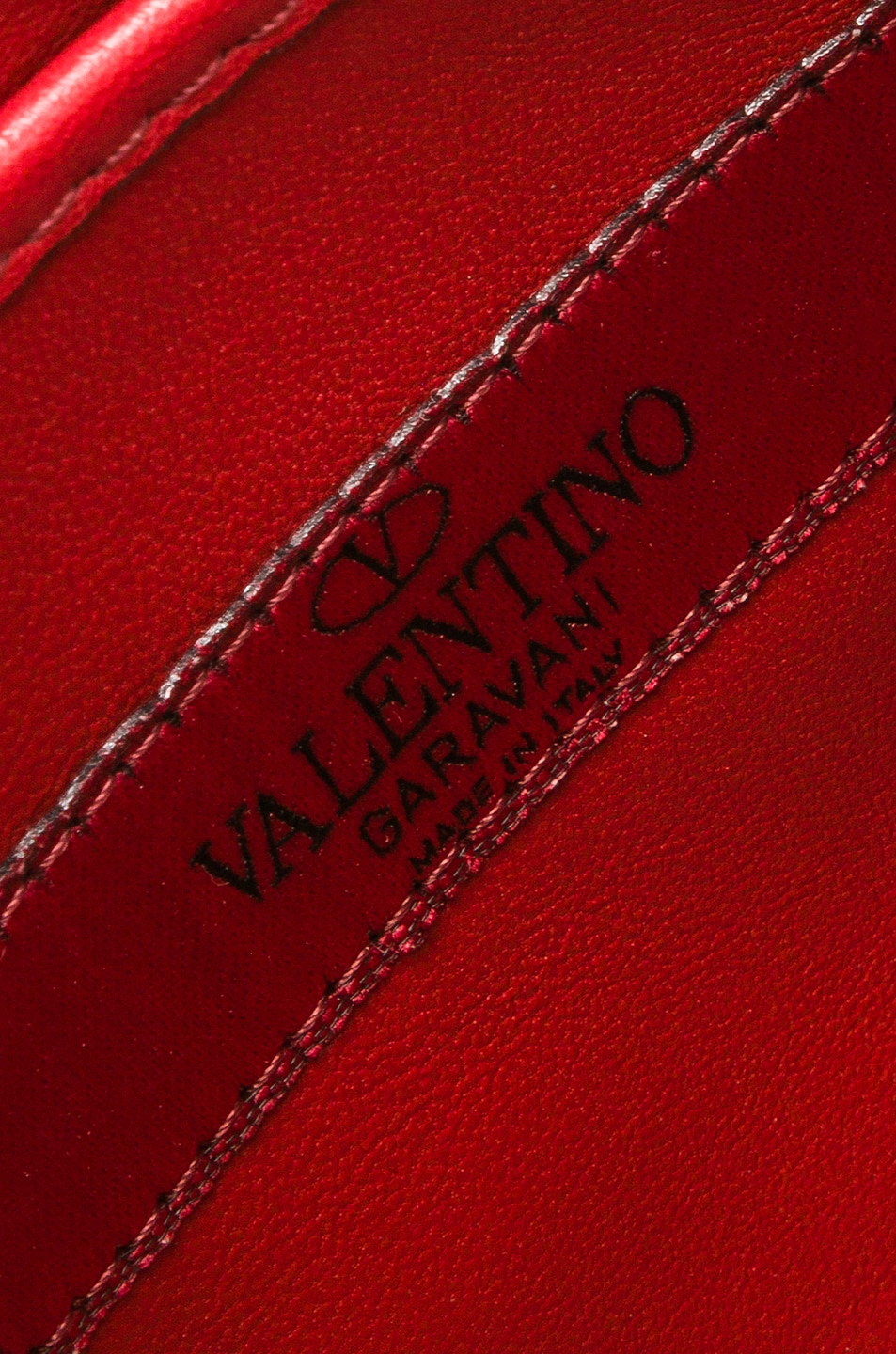 Image 6 of Valentino Rockstud Spike Crossbody Bag in Red
