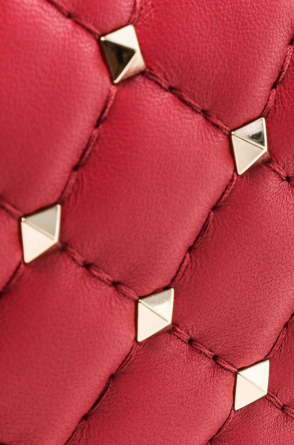 Image 7 of Valentino Rockstud Spike Crossbody Bag in Red
