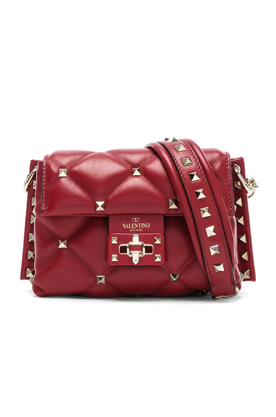 acbafc58b4 Image 1 of Valentino Mini Candystud Shoulder Bag in Red
