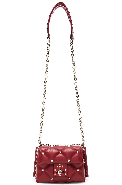 Image 6 of Valentino Mini Candystud Shoulder Bag in Red