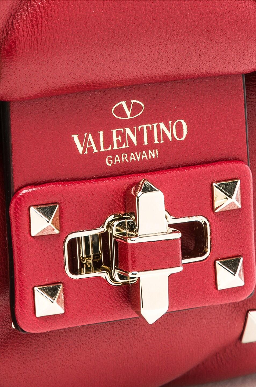 Image 8 of Valentino Mini Candystud Shoulder Bag in Red