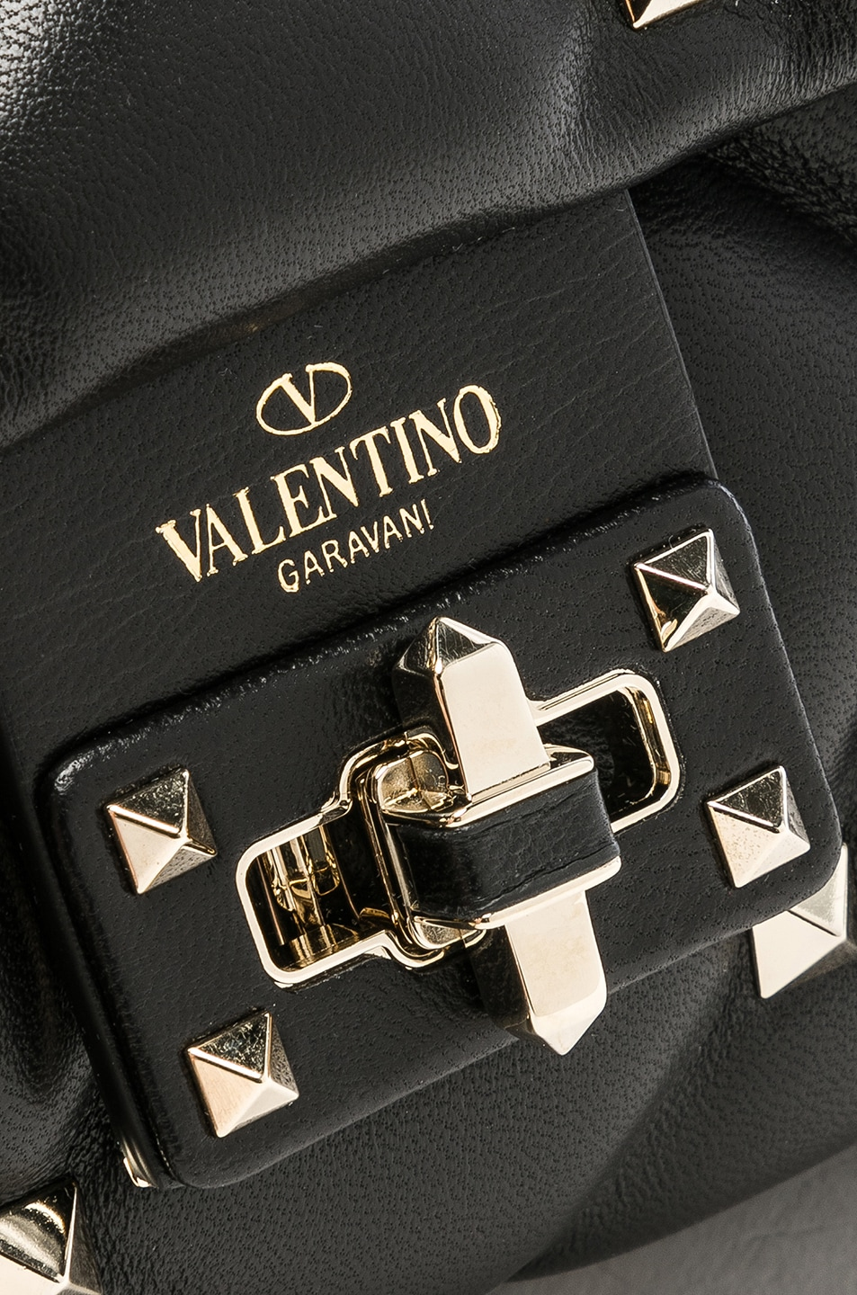 Image 8 of Valentino Medium Candystud Shoulder Bag in Black