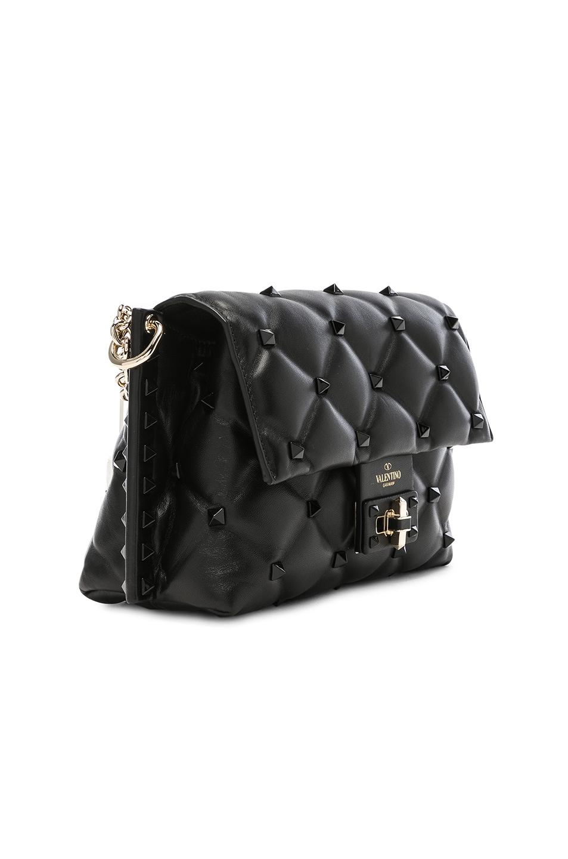 Image 4 of Valentino Medium Candystud Shoulder Bag in Black
