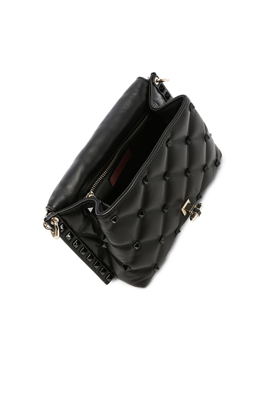 Image 5 of Valentino Medium Candystud Shoulder Bag in Black