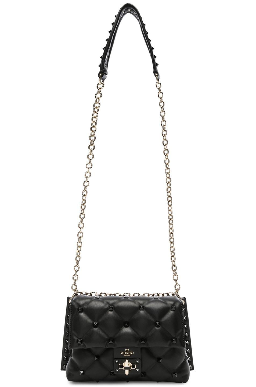 Image 6 of Valentino Medium Candystud Shoulder Bag in Black