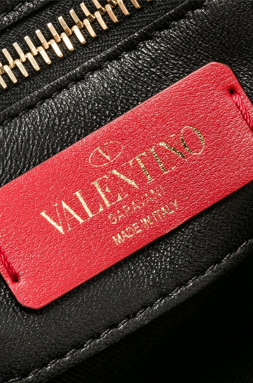 Image 7 of Valentino Medium Candystud Shoulder Bag in Black