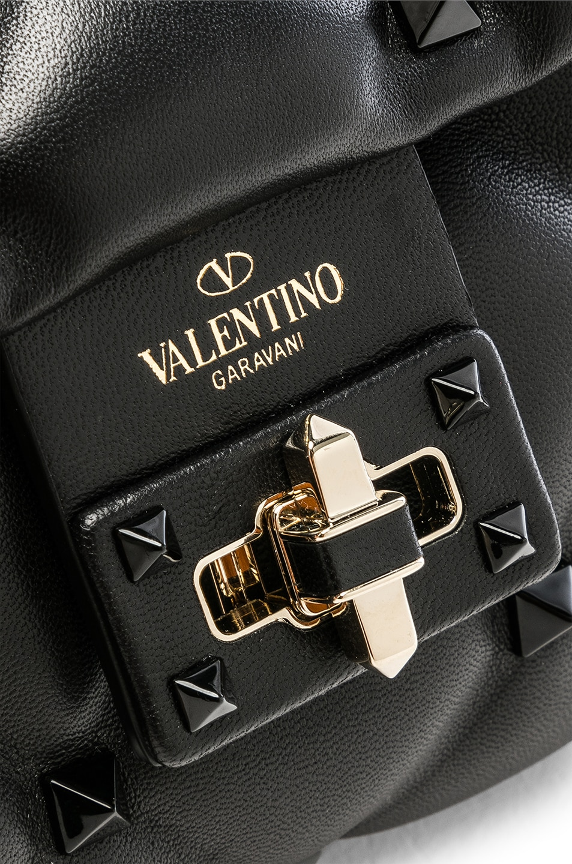 Image 8 of Valentino Medium Candystud Shoulder Bag in Black
