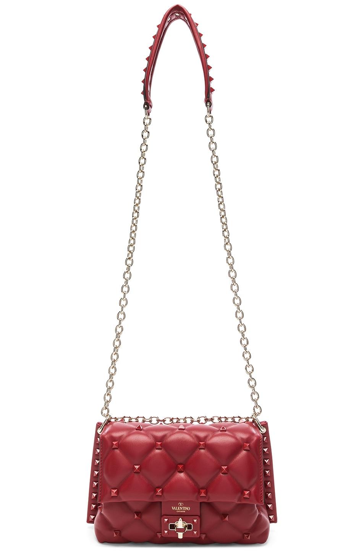 Image 6 of Valentino Medium Candystud Shoulder Bag in Red