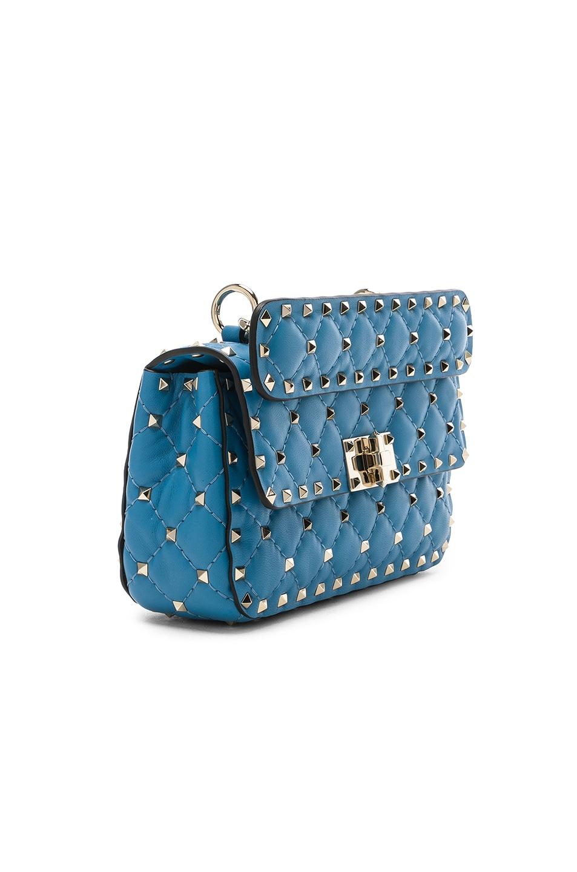 Image 3 of Valentino Small Rockstud Spike Shoulder Bag in Sky Blue
