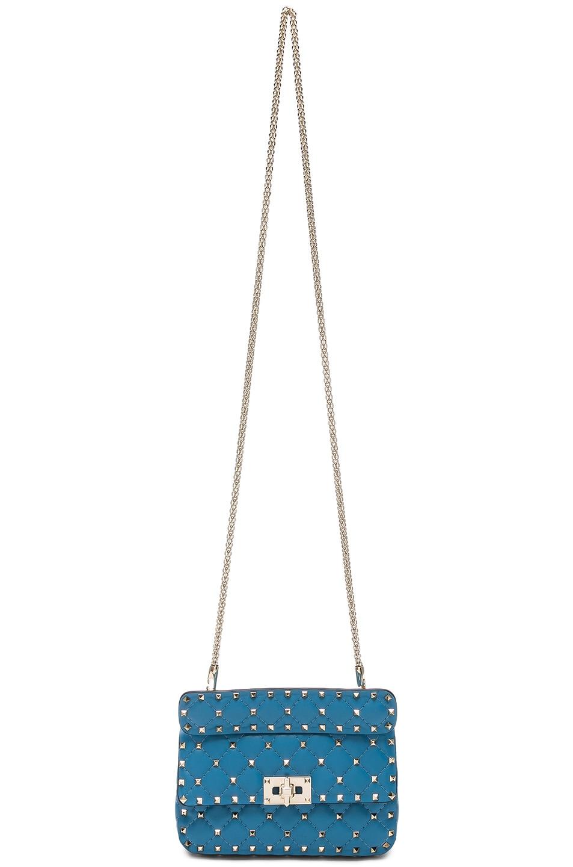 Image 5 of Valentino Small Rockstud Spike Shoulder Bag in Sky Blue