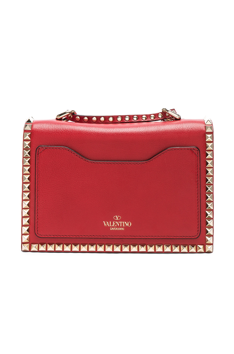 Image 3 of Valentino Small Rockstud No Limit Crossbody Bag in Red